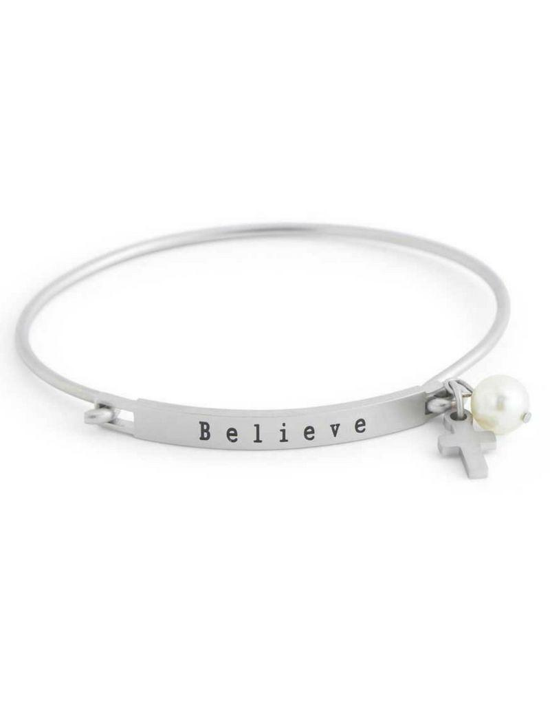 Believe Bangle Hook Bracelet