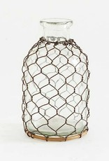 Chicken Wire Glass Bottle