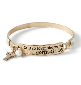 For God So Loved The World Bracelet - Gold