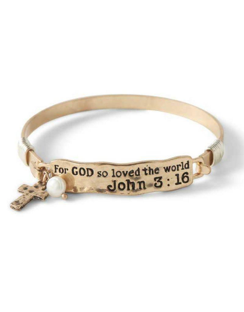 For God So Loved The World Bracelet - Gold