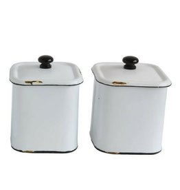 Enamel Canisters - Set of 2