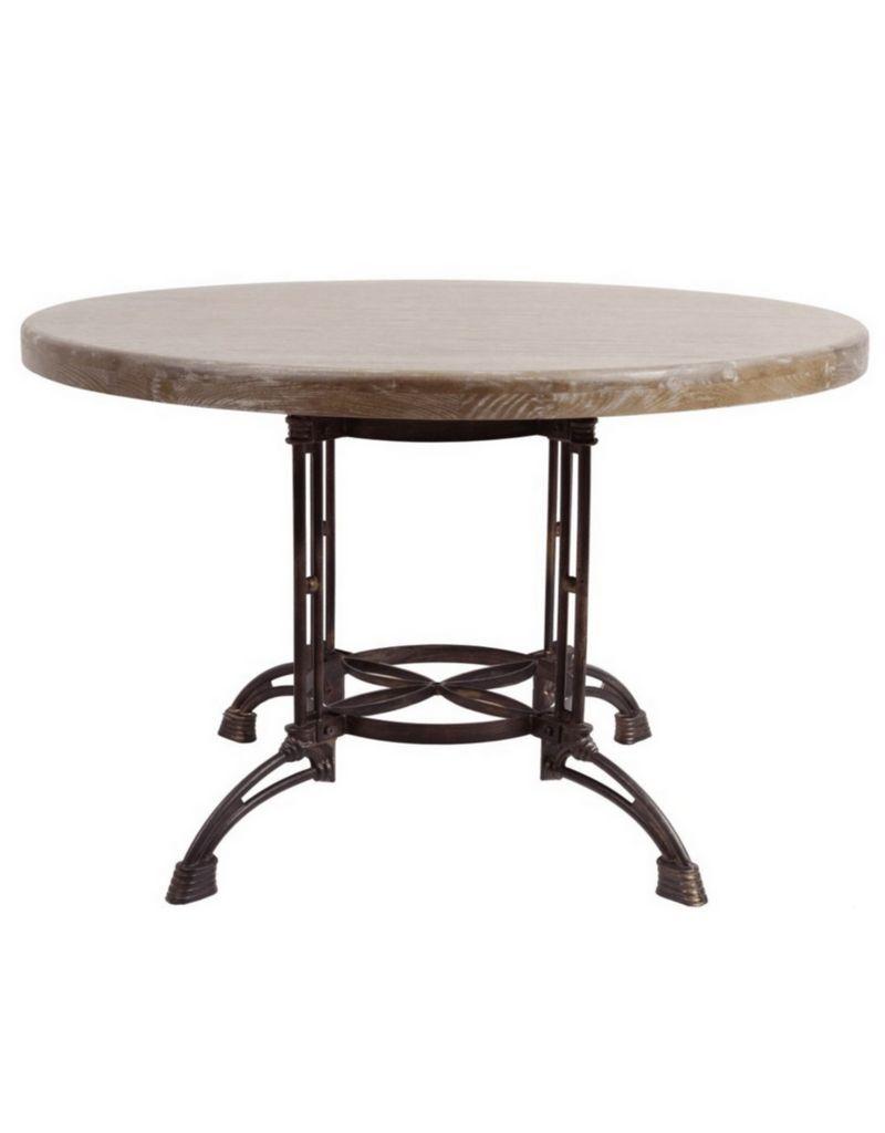 Metal Base Round Dining Table