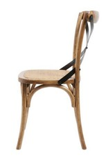 Medium Brown X Back Chair