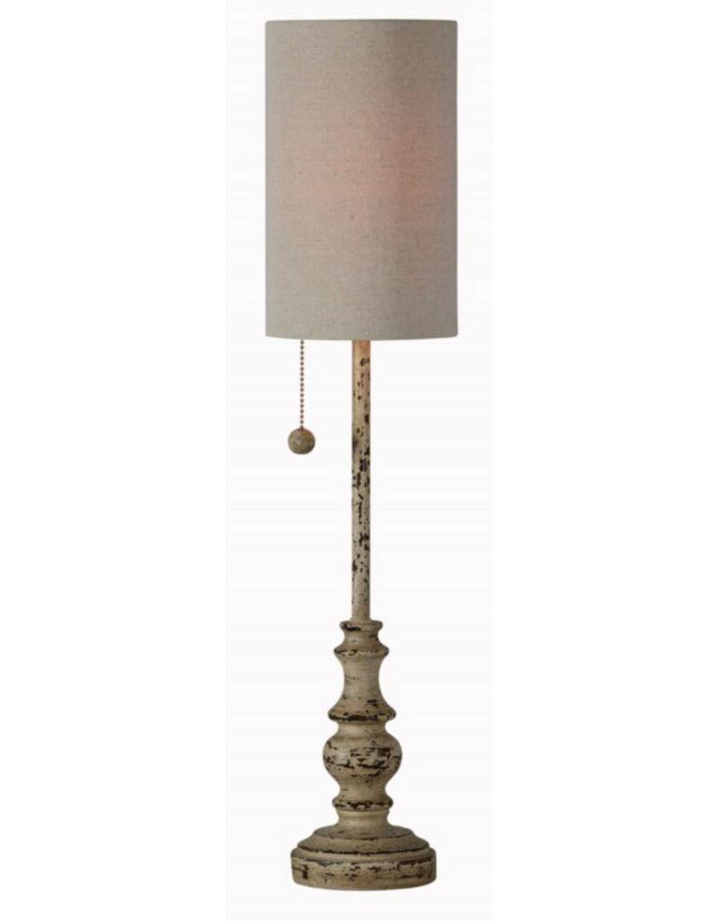 Distressed Buffet Lamp