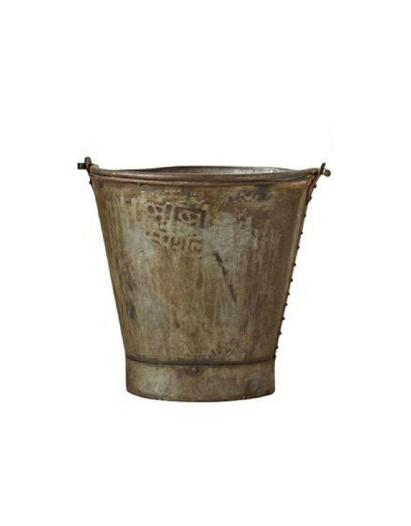 Metal Bucket with Handle - Authentic