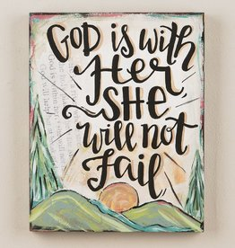 God is With Her She Will Not Fail Canvas