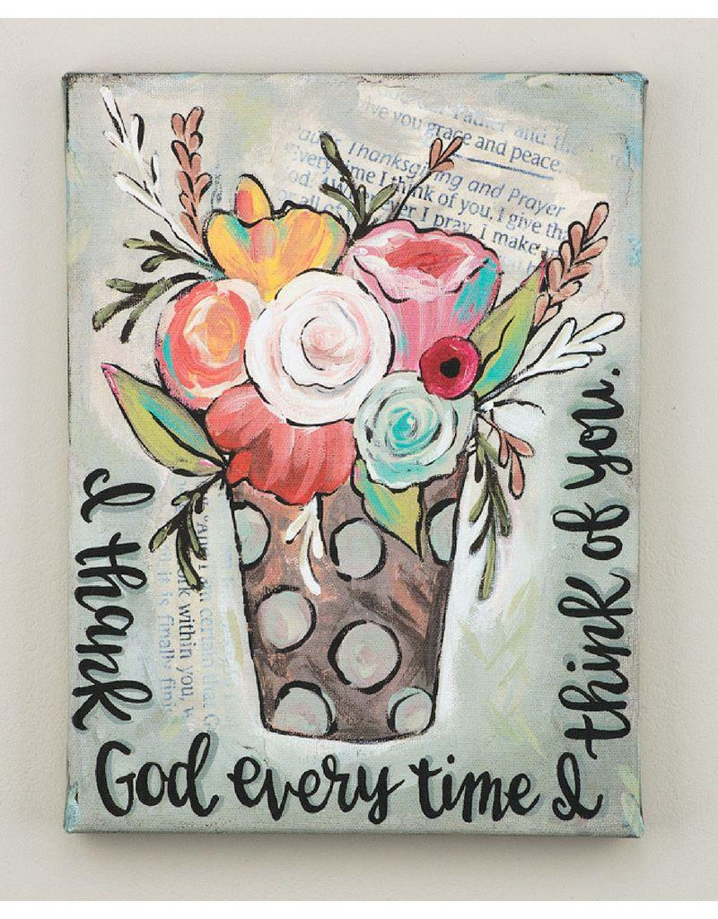 Glory Haus I Thank God Every Time I Think of You Canvas