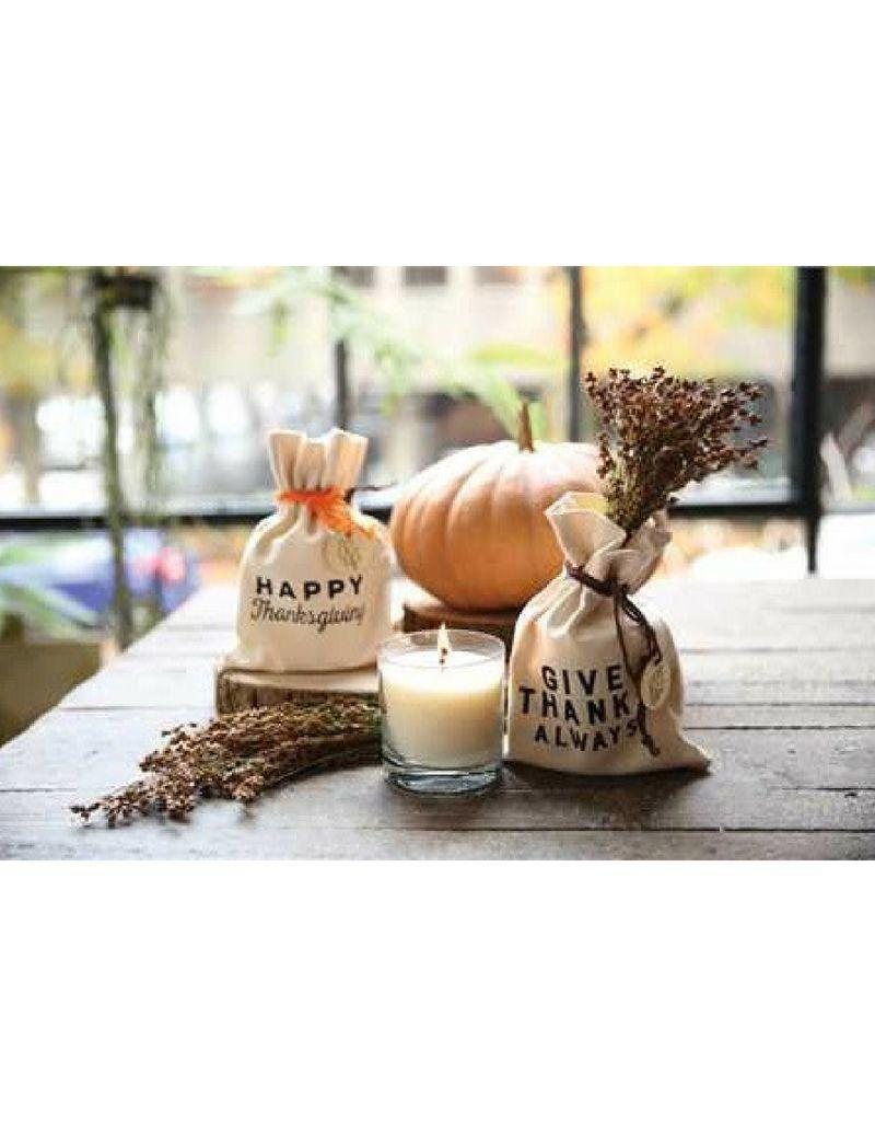 Thanksgiving Candle In Drawstring Gift Bag