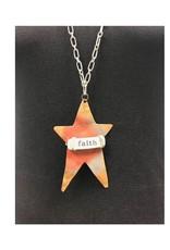 """Boho Metal Prim Star """"Faith"""" Necklace"""