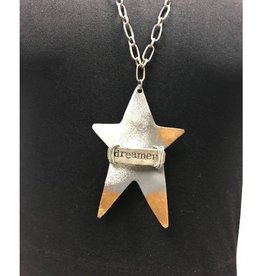 "Boho Metal Prim Star ""Dreamer"" Necklace"