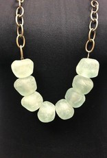 Large Clear Stone Necklace  - Asst Colors