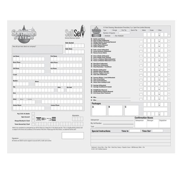 SoftWash Systems SoftServ™ NCR Invoices