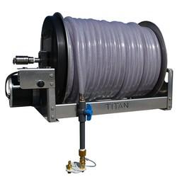 "18"" Electric Aluminum &  SS Reel – 5/8 Clear Braid Hose"