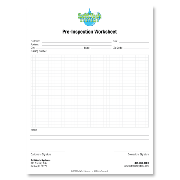 SoftWash Systems Pre Inspection Forms (50)