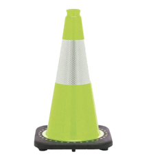 Traffic Cone, 18in Flourscent - Lime