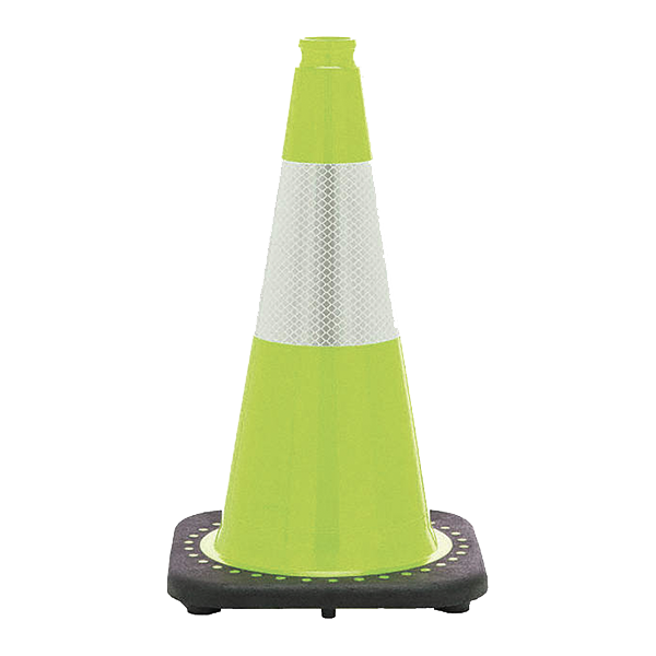 Traffic Cone, 18in Flourescent - Lime