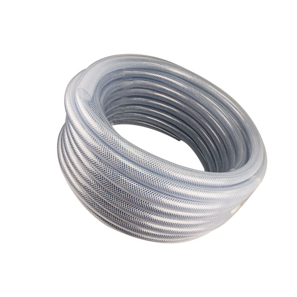 "12"" Aluminum & SS Full Frame Reel – 1/2"" Clear Braid Hose"