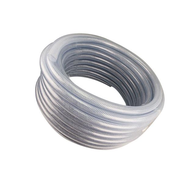 "12"" Aluminum & SS Reel – 5/8"" Clear Braid Hose"