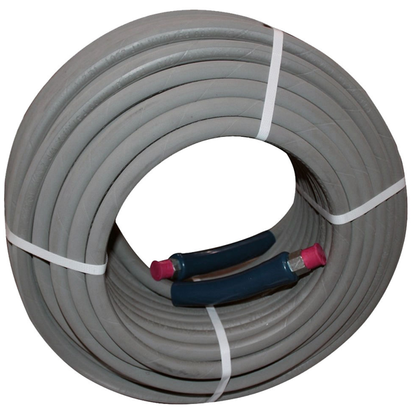 """12"""" Aluminum &  SS Full Frame – Pressure hose 3/8"""" 6000 PSI 200'"""