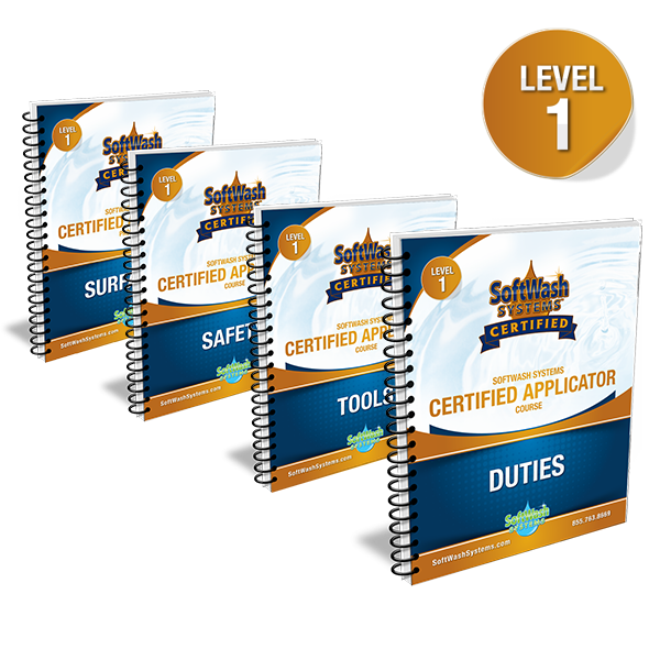 SoftWash Systems Certified Applicator Course - Workbooks Only