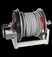 "12"" ELECTRIC Aluminum &  SS Reel – Pressure hose 3/8"" 6000 PSI  200'"