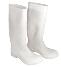 White PVC Work Boot