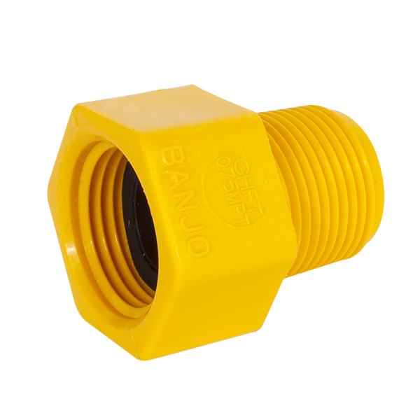 "3/4"" F-GH TO 3/4"" M-THD YELLOW"