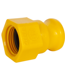 "3/4"" M-CAM TO 3/4"" F-GH YELLOW"