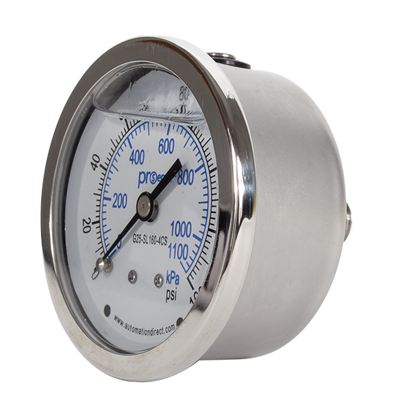SS Liquid Filled Gauge - Pressure Gauge (160 PSI)