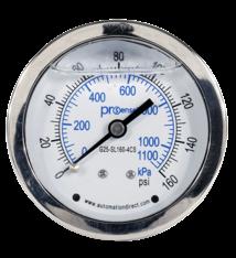 SS Liquid Filled Gauge - Pressure Gauge (160 PSI)