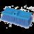 Brush Soft FlowThru 10in Blue BiLevel