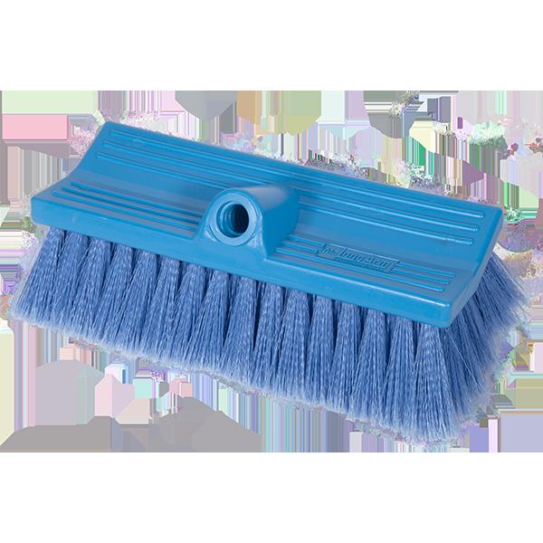 Brush Stiff FlowThru 10in Blue BiLevel