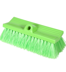 Brush Soft FlowThru 10in Green BiLevel