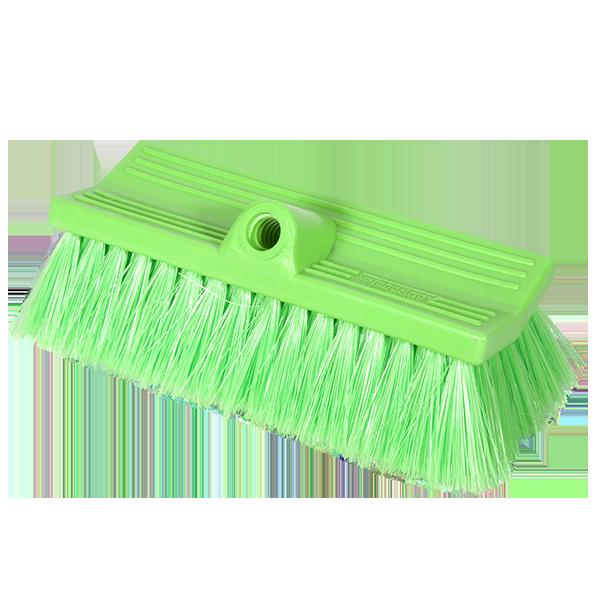 Brush Stiff FlowThru 10in Green BiLevel