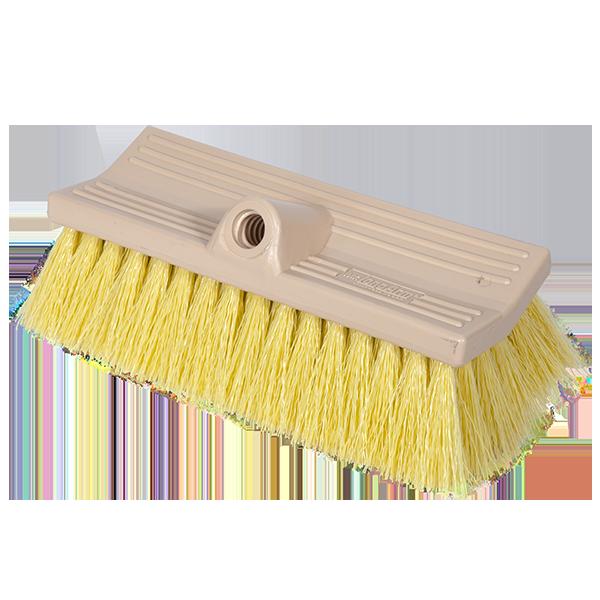 Brush Stiff FlowThru 10in Yellow BiLevel