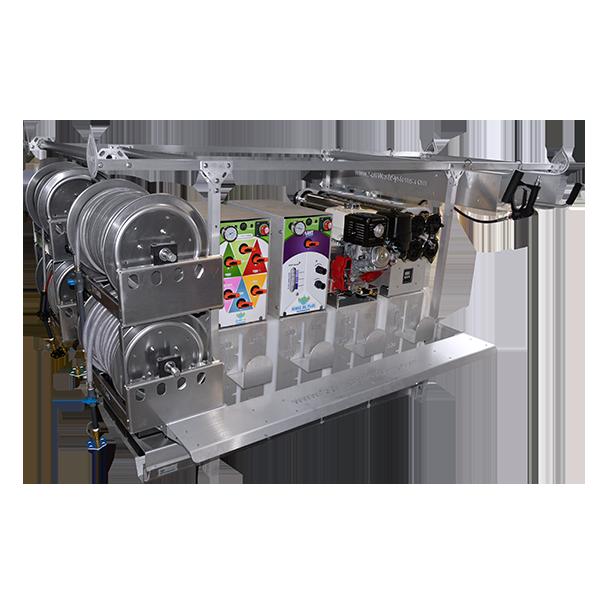 Blend 6X 100 Gal Rinse DC 50 Gal, Full Cradle Skid,  50 Gal Pure water & Power Wash Unit