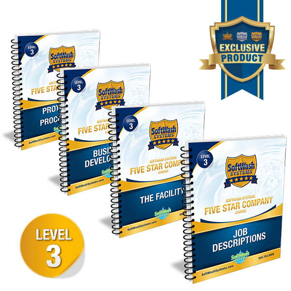 SoftWash Systems Five Star Company Course - Workbooks Only