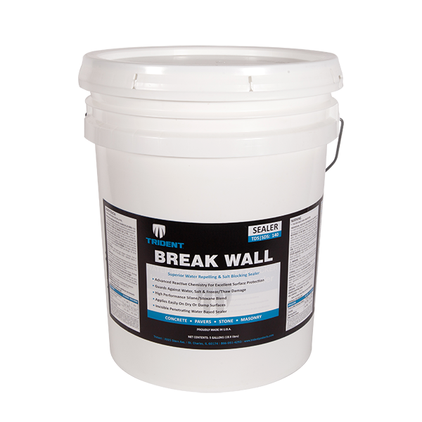 Breakwall - Water Repellent & Salt Blocker Invisible Penetrating Sealer (5 Gal)