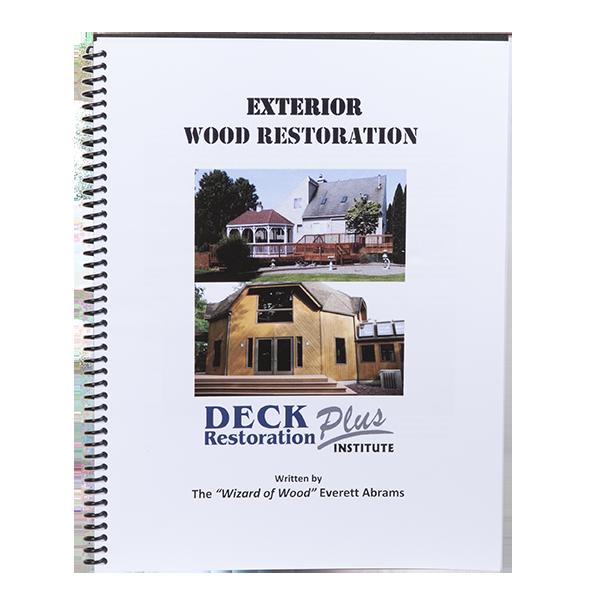 Deck Restoration - Manual