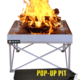 Fireside Industries, Inc. Pop-up Pit and Heat shield Combo Kit Firepan
