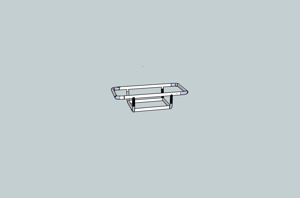 Riverboat Works Cataraft Extension Trailer: Single Rail