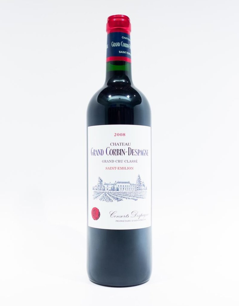 Wine-Red-Lush Chateau Grand Corbin-Despagne St-Emilion AOC 2008