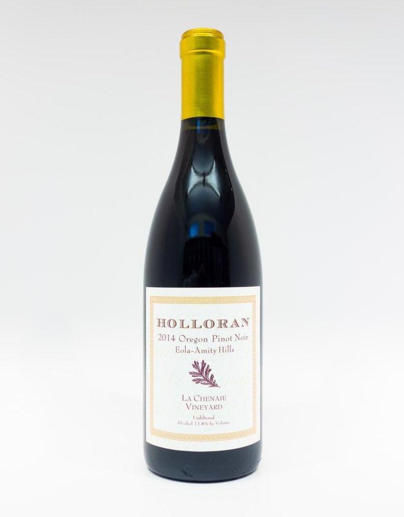 Wine-Red-Lush Holloran Pinot Noir Eola-Amity Hills La Chenaie Vineyard 2014