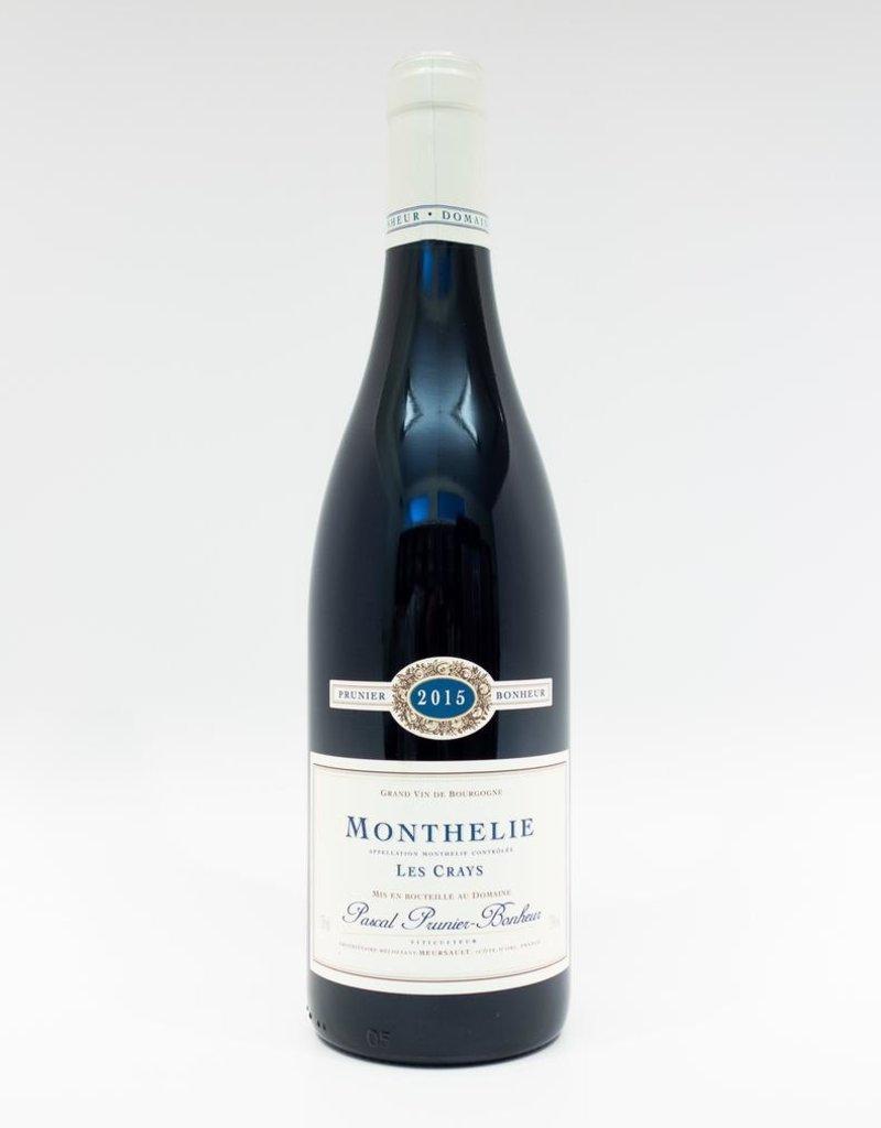 Wine-Red-Lush Domaine Prunier-Bonheur Monthelie AOC Les Crays 2015