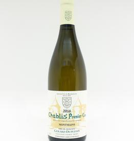 Wine-White-Round Gerard Duplessis Chablis Premier Cru Montmains AOC 2016