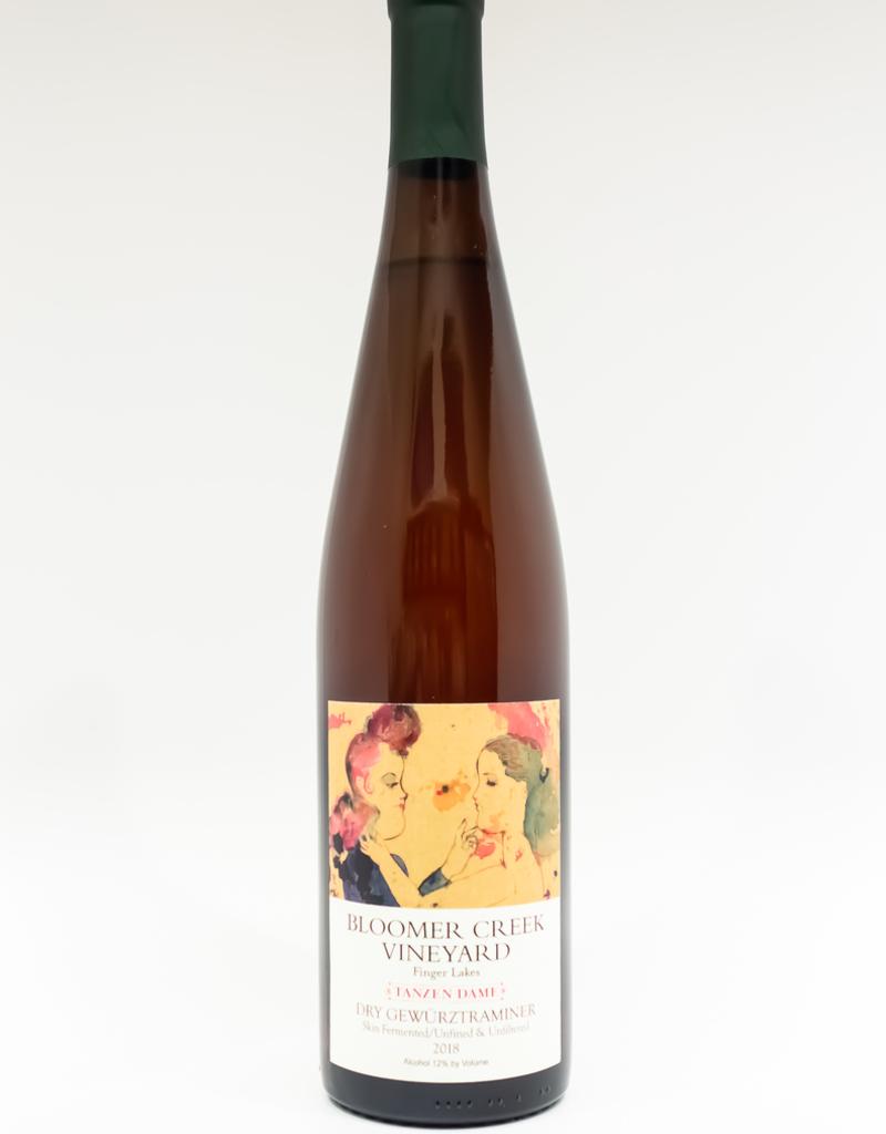 Wine-Orange/Skin-fermented Bloomer Creek Vineyard Skin-fermented Dry Gewurztraminer 'Tanzen Dame' Finger Lakes 2018