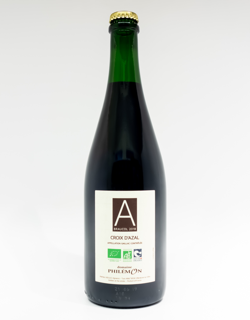 Wine-Red-Big Domaine Philemon Braucol 'Croix d'Azal' Gaillac AOC 2018