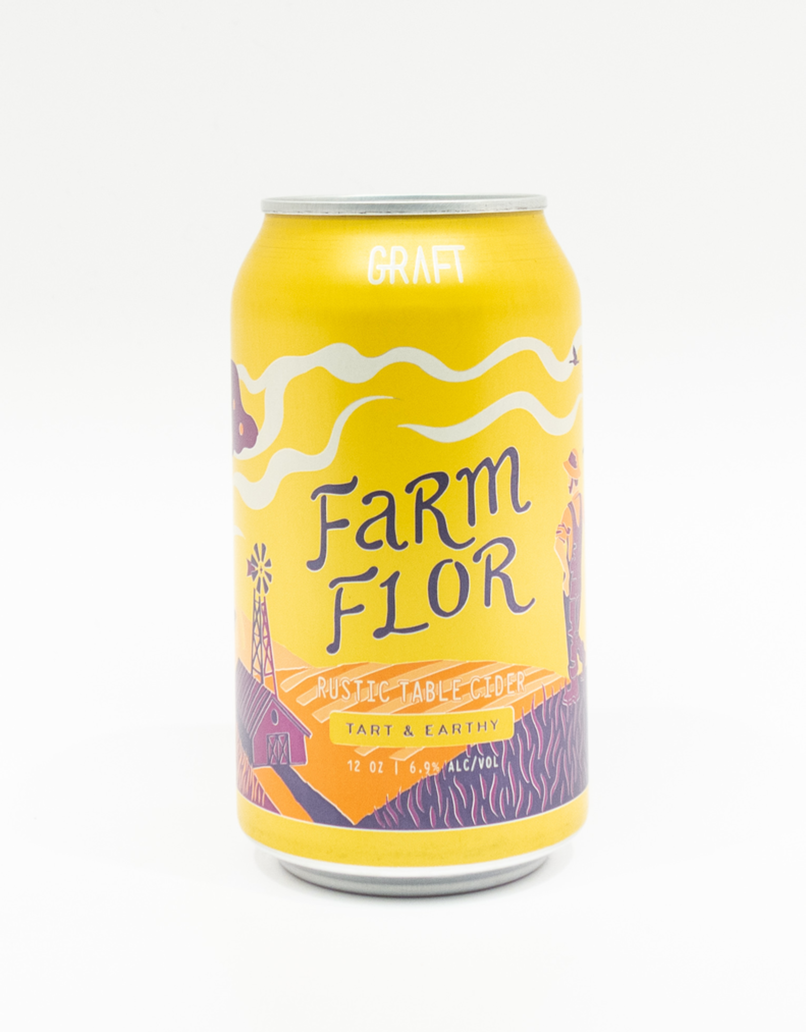 Cider-US-New York State Graft Farm Flor Rustic Cider Can 12oz