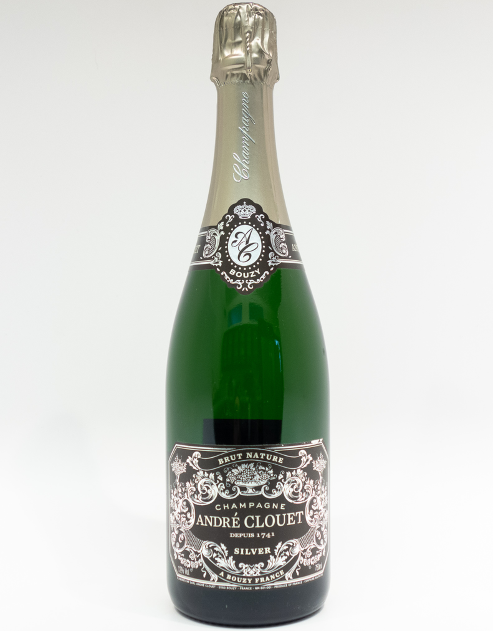 Wine-Sparkling-Champagne Andre Clouet Champagne AOC 'Silver' Brut Nature NV