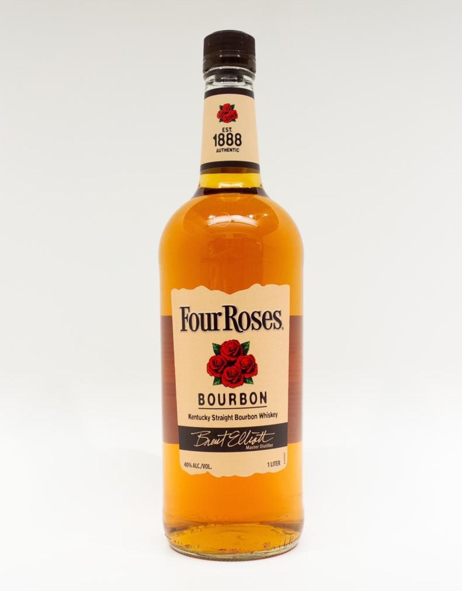 Spirits-Whiskey-Bourbon Four Roses Bourbon 1L